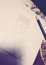 mon portrai dessiné par ma douce copine