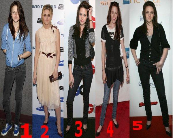 Choisie la meilleur tenue de Kristen Stewart en 2007