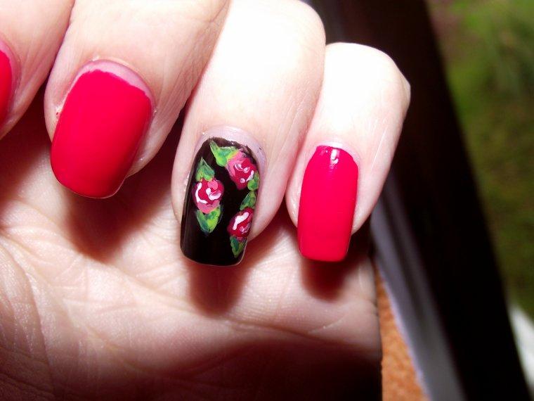 Rose sur fond noir