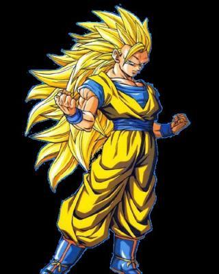 Goku super saiyen 3 dragon ball dragon ball z - Sangoten super sayen 3 ...