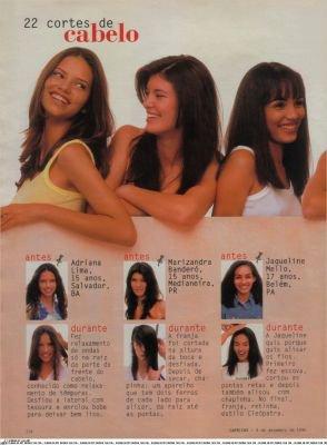 "Adriana dans ""Capricho Brazil"" en Decembre 1996"