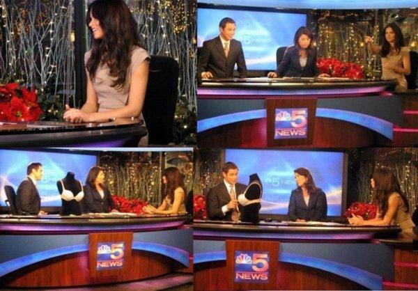 adriana à la télé pour NBC Chicago - 5 News : le 8 décembre 2010 à Chicago