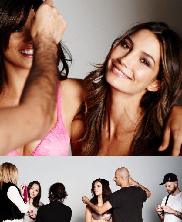 Le 12 décembre 2010 russell james reposte des photos d'adriana lors d'un shooting pour victoria's secret