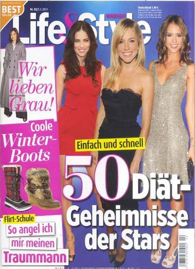 Adriana dans le magazine : Life&Style Allemand en Janvier  2011