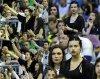 Le 7 Mai 20111 adriana à Barcelone pour regarder son mari jouer au basket qui joue pour Sienne