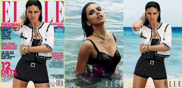 """Le 6 septembre 2011 : Adriana pour le magasine """"ELLE"""" usa du mois d'octobre"""
