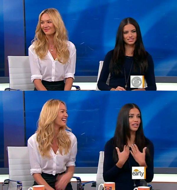 "Le 11/11/2011 : adriana et candic pour CBS "" elary show"""
