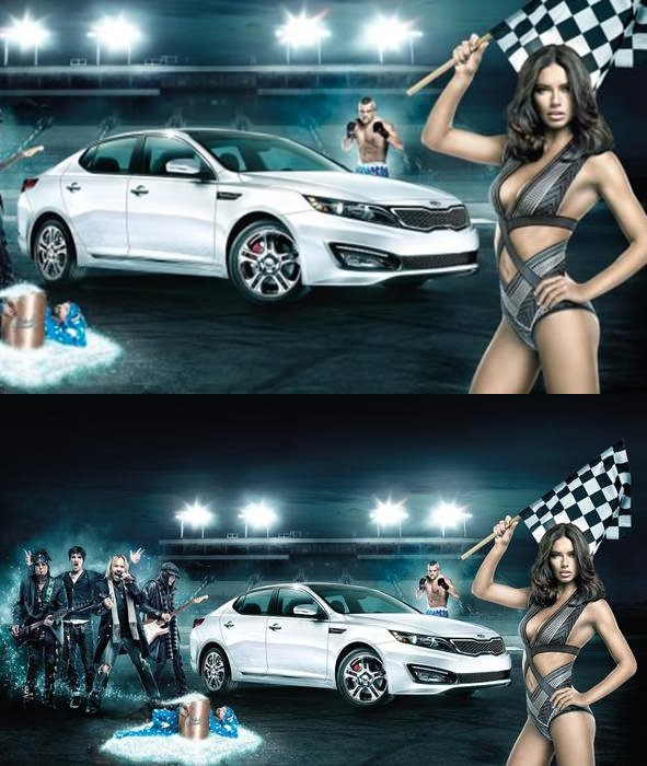 le 16/01/2012 : Adriana pour Kia's Superbowl Ad