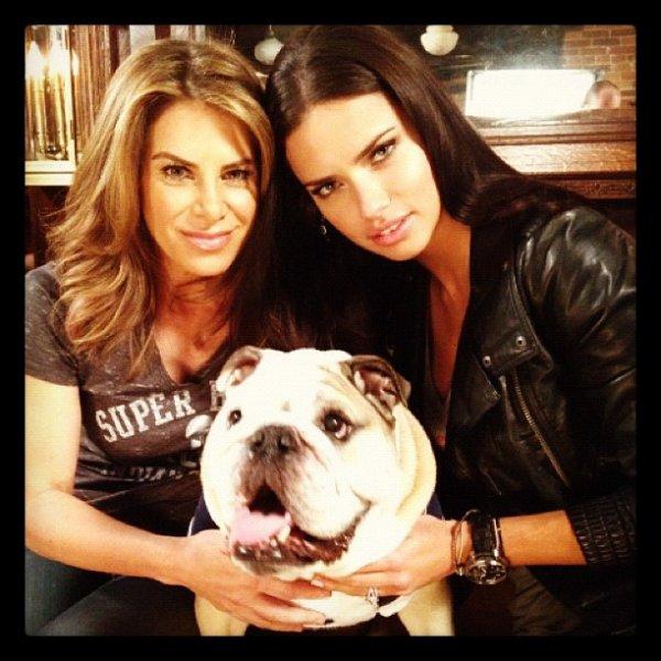 Le 24/01/2012 : Via le twitter de la marque Victoria's secret adriana avec Jillian Michaels