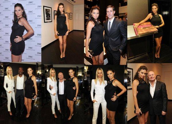 Le 25/04/2012 : Adriana et Karolina Kurkova à l'ouverture de la boutique IWC Flagship à New-York