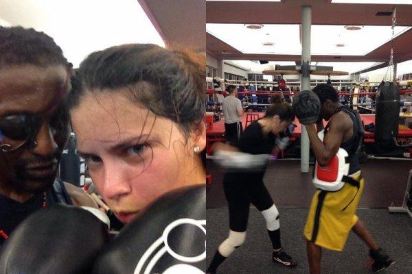 le 19/10/2012 : Photos d'adriana via le twitter de de son ami michael olajide jr