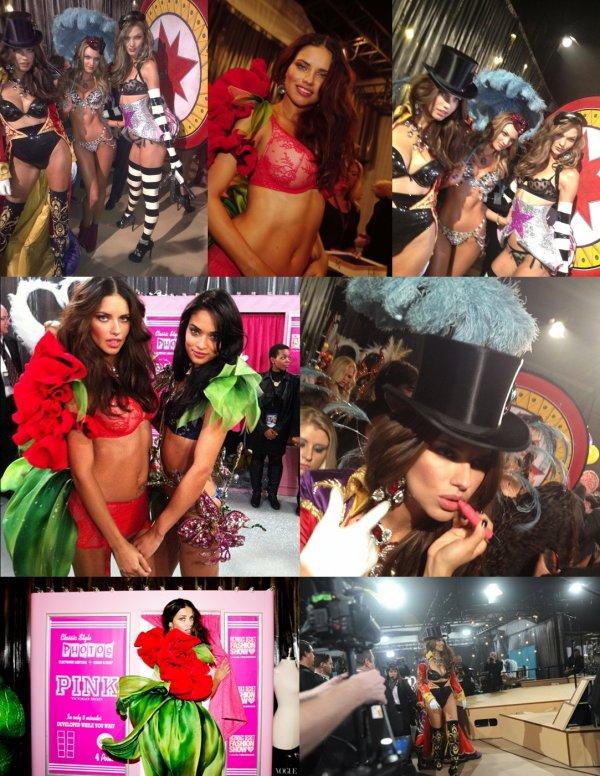 le 7/11/2012 : Victoria's Secret pendant le show en coulisse