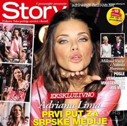 Le 18/11/2012 : Interview d'adriana pour le magasine serbe Story