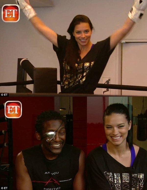 """le 4/12/2012 : Adriana  révèle ces secrets de Fitness pour un reportage de """"ET"""" (Entertainment Tonight)"""