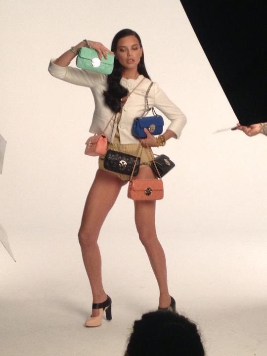 """Le 9/12/2012 : Adriana pour La marque """"METROCITY"""" ."""