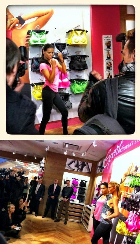 le 15/01/2013 : Photos via le twitter de la marque Victoria's secret