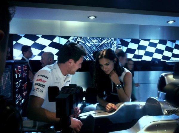 "le 22 /1/ 2012 : Adriana Lima at IWC Even via le twitter de ""MERCEDES AMG F1"""