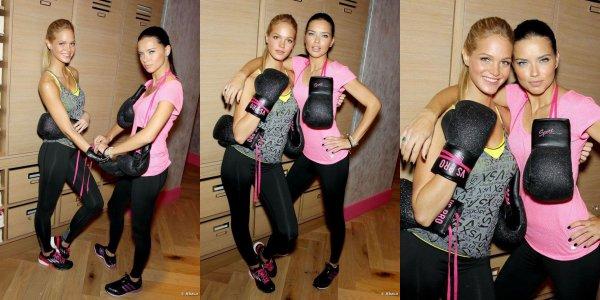 Le 15/1/2012 : Adriana avec Eriin dans une salle de sport