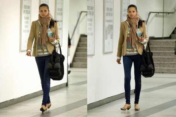 le 11 Mars 2013 : Adriana à l'aéroport de LaGuardia à New York