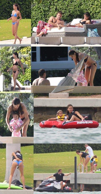 le 24/04/2013 : Adriana , Marko et leur 1ère fille Valentina à Miami