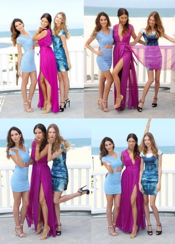 le 14/05/2013 : Adriana , Lily et Behati à Santa Monica, en Californie.