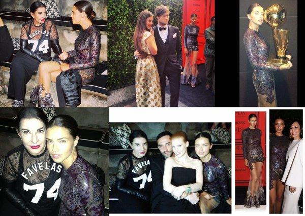 le 3/06/2013 :Photos sur instagram ou twitter d'Adriana au Fashion Awards 2013