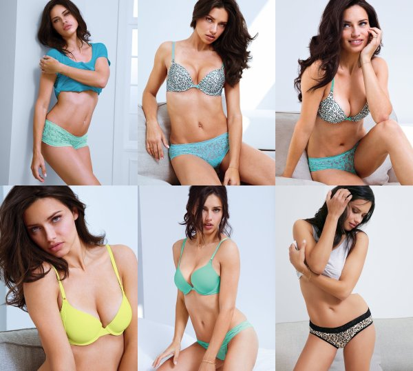 le 7/06/2013 : Photos d'Adriana pour victoria's secret
