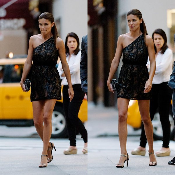 """le 11/06/2013 : Adriana dans New-York pour se rendre à l'ouverture de """" vince camuto """""""