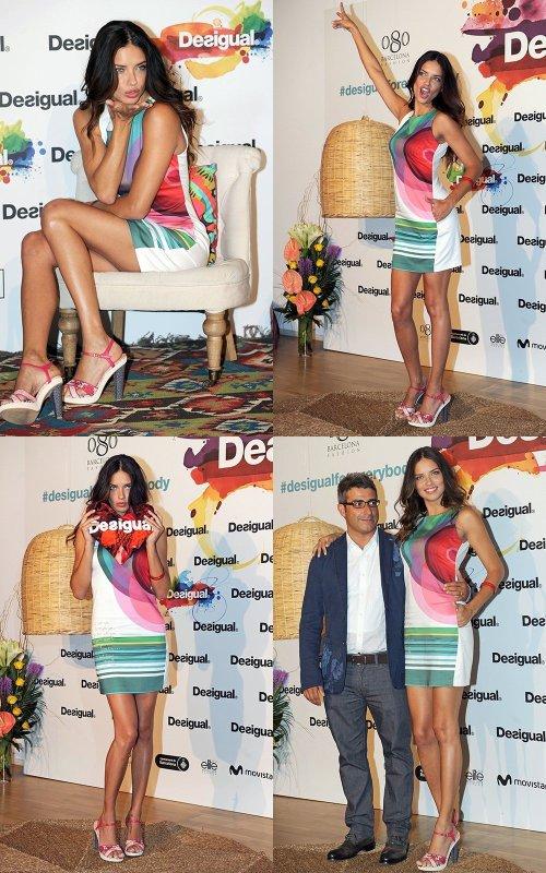 le 9/7/2013 : Adriana Lima pour la conférence de presse de Desigual à Barcelone