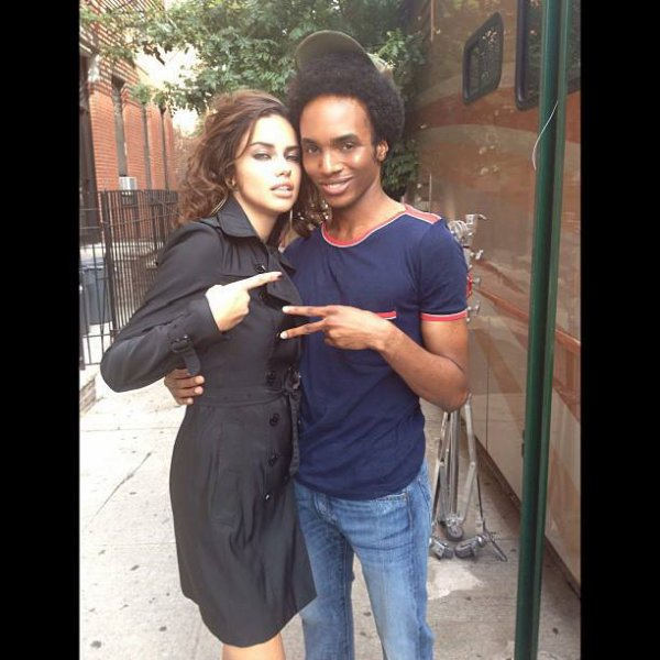 le 1/8/2013 : Adriana en shooting à New-york pour Número Tokyo