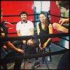le 6/8/2013 : Adriana pour Fox Sports avec Manny Pacquiao (boxer)