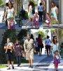 Le 13/08/2013 : Adriana à Miami avec ces deux filles (Valentina et Sienna)