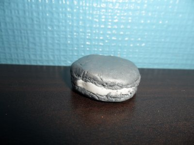 macaron gris -blanc