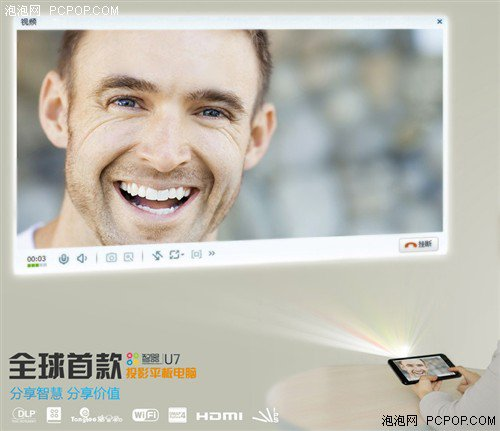 world's first projector tablet!ZHIQI U7