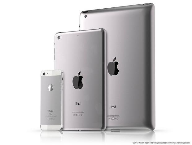 Apple iPad mini the hypothetical design: color aluminum housing