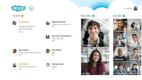 Log in stores in October 26 Microsoft launched Windows8 version of Skype
