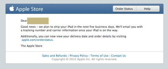 Apple LTE version iPad mini will be shipped within 5 working days