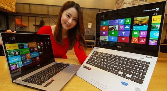 LG launched 15-inch Win 8 ultra-extreme U560