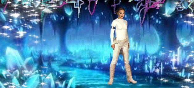 Akiara (dans le présent), piégée dans la grotte de cristal