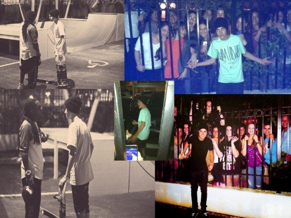 Justin sur la plage de Miami + Justin à Miami + Buzz: Justin quitte son van en courant