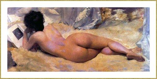 OLANO IGNACIO DIAZ (ESPAGNE, 1860-1937) LECTURE. nouvelle mise en ligne