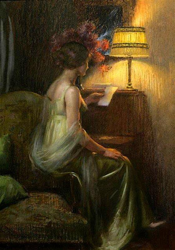 DELPHIN ENJOLRAS (1865 - 1945) LE BILLET DOUX