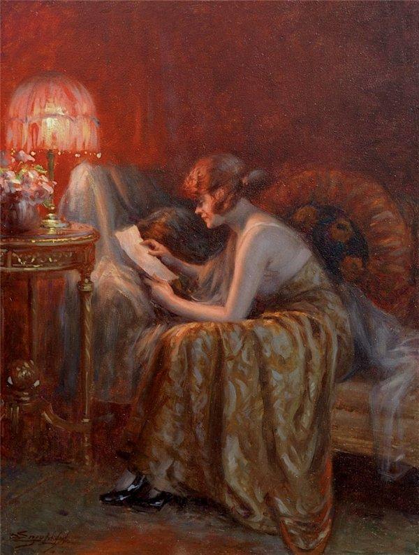 DELPHIN ENJOLRAS (1865 - 1945) BILLET DOUX