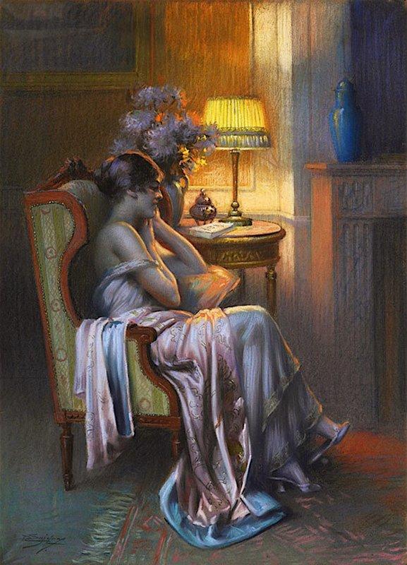 DELPHIN ENJOLRAS (1865 - 1945) LE REPOS