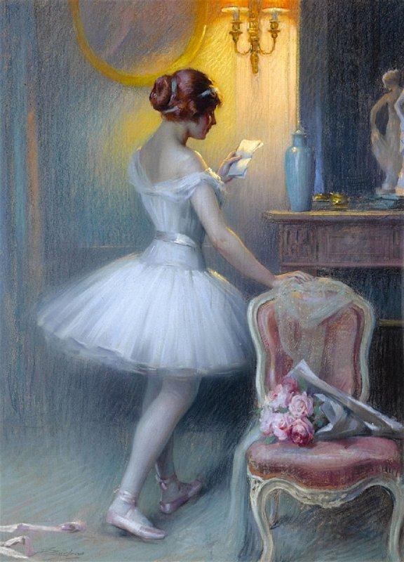 DELPHIN ENJOLRAS (1865 - 1945) LA LETTRE