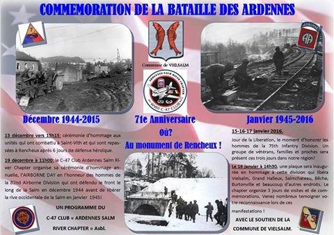 71e anniversaire de la BATAILLE des ARDENNES