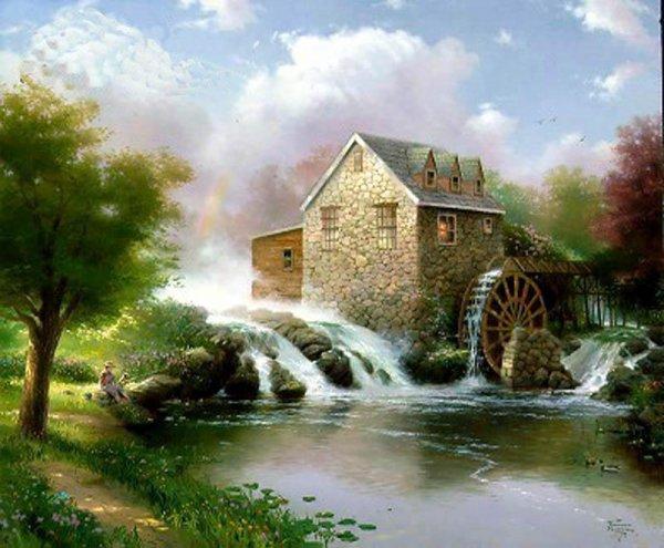 le moulin de claude francois ainsi que sa maison