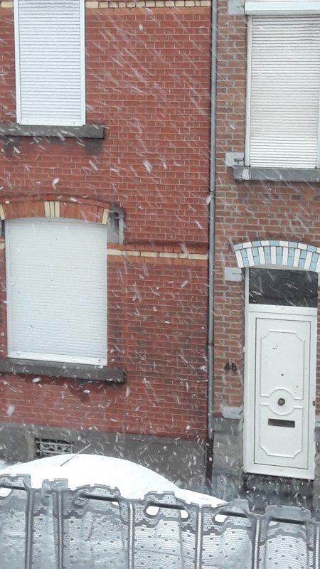 Il neige !!! Trop bien !!! Ça fais trois ans on n'a plus vu la neige !
