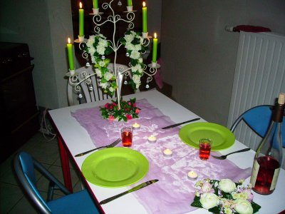 une table pour 2 decolydie. Black Bedroom Furniture Sets. Home Design Ideas