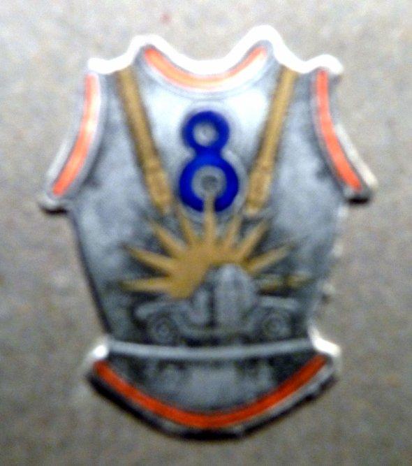 8éme Régiment de CUIRASSIERS - Bizerte 1950 -  INSIGNE DU REGIMENT